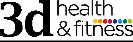 3d health and fitness Retina Logo